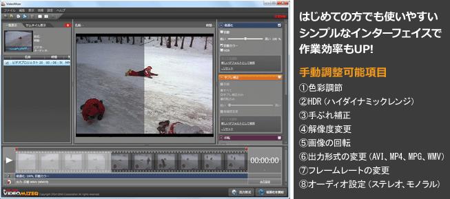 Videomizerインターフェイス画面